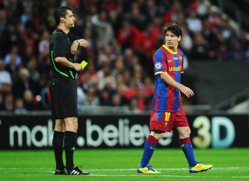 Kassai alături de Messi în finala Ligii Campionilor, cîştigată de Barcelona cu 3-1 în faţa lui Manchester