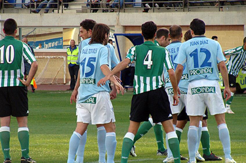 Imagini de la un meci din liga a treia spaniolă
