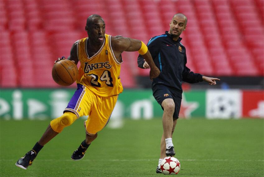 Fotomontaj: Pep Guardiola şi Kobe Bryant