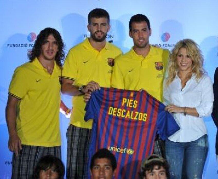 Puyol, Pique, Busquets şi Shakira, la conferinţa de presă de la Miami