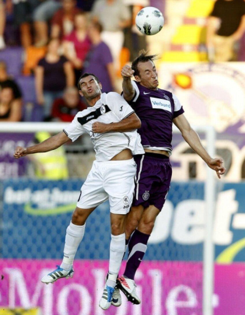 Bawab va trebui să tragă din greu în returul cu austriecii pentru a o putea califica pe Gaz metan în grupele Europa League
