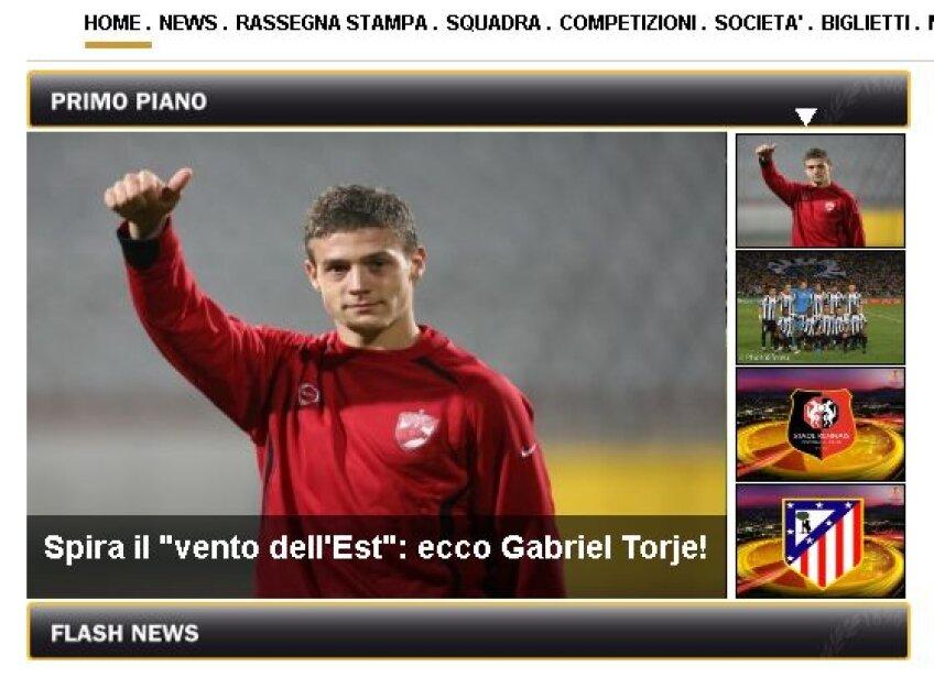 Siteul lui Udinese se deschide cu anunțul oficial al transferului lui Torje