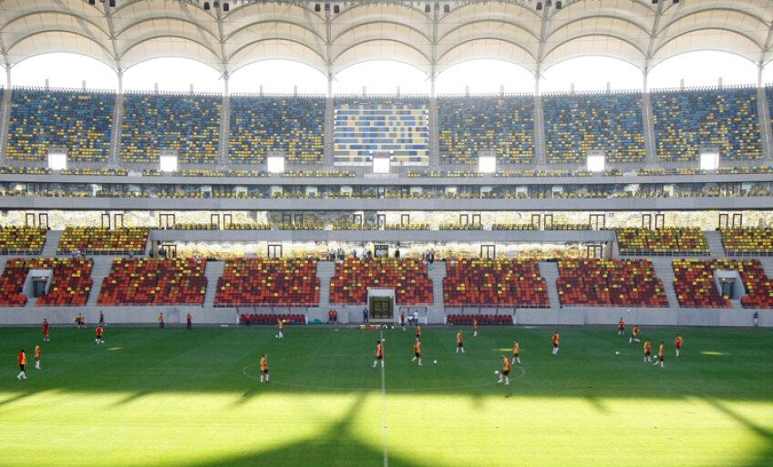 Tricolorii au efectuat primul antrenament pe National Arena