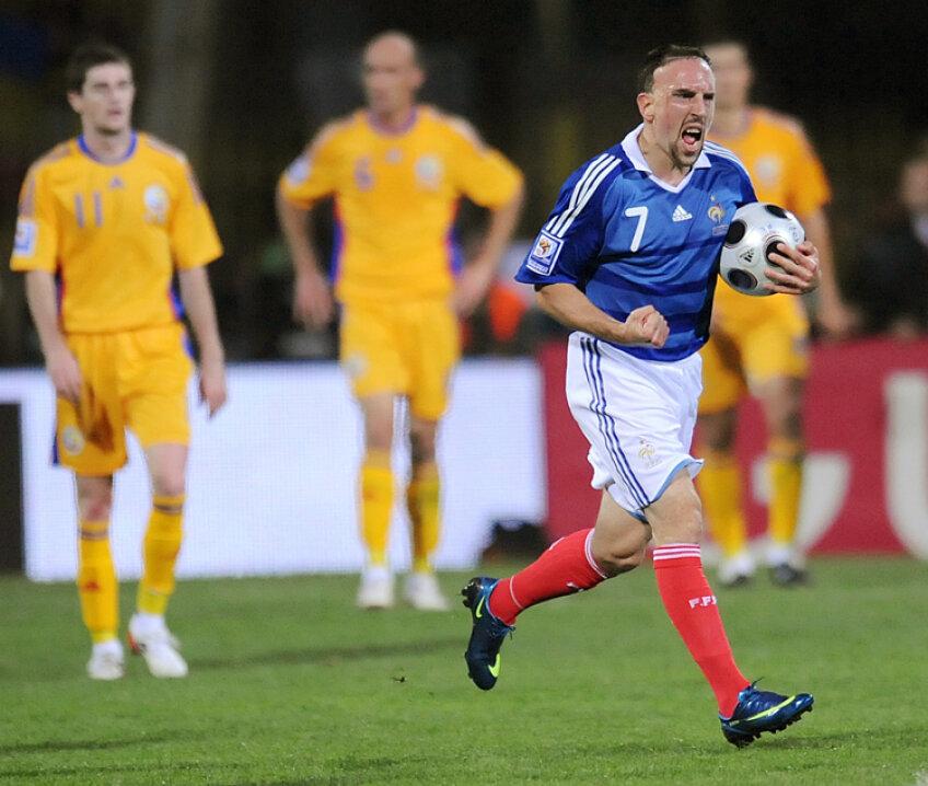 Franck Ribery va fi una dintre armele Franţei în meciul cu România de pe 6 septembrie