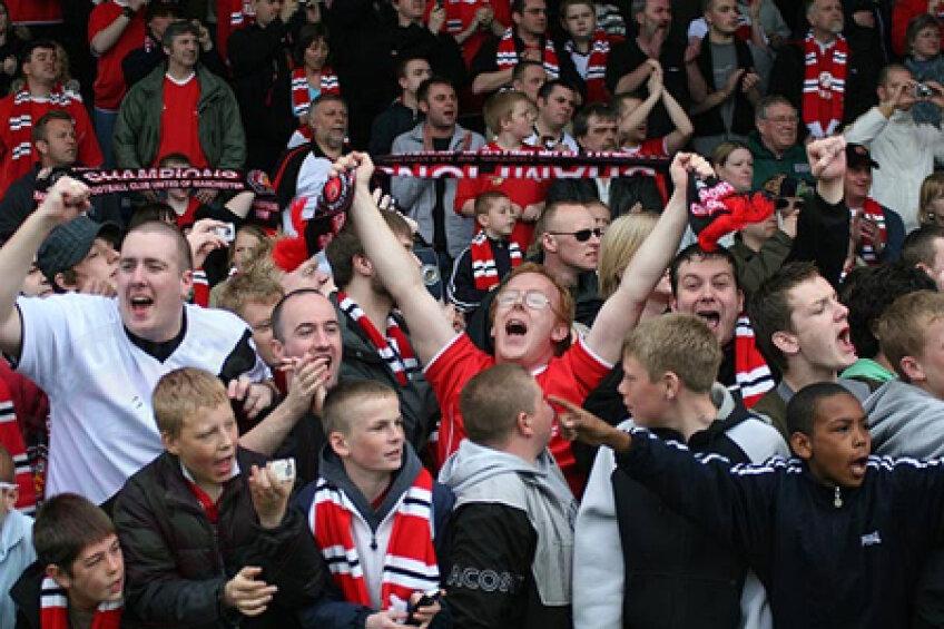 Manchester United va avea o susţinere puternică din partea fanilor la meciul cu Oţelul