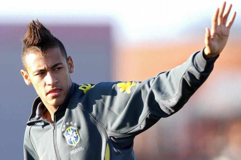 Neymar la antrenamentul naționalei Braziliei