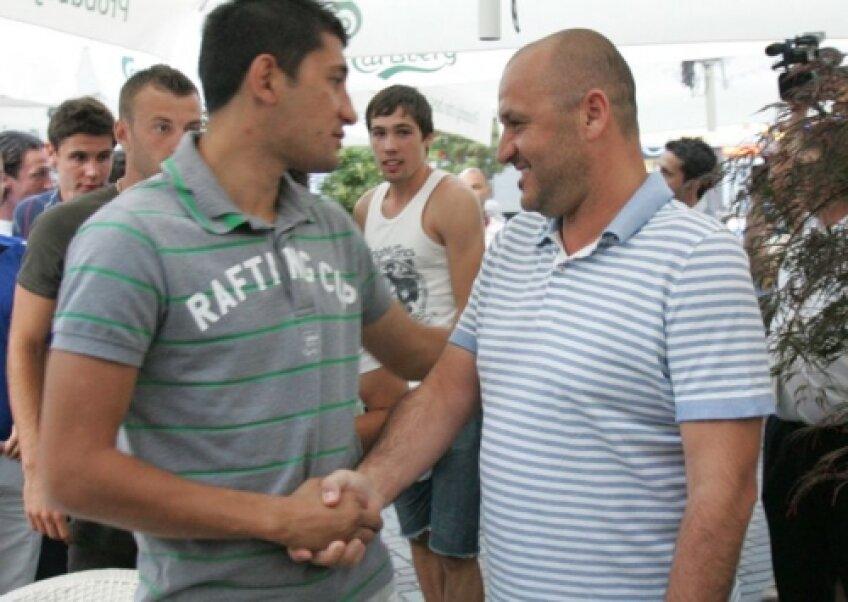 Adrian Mititelu împreună cu preferatul lui, Florin Costea