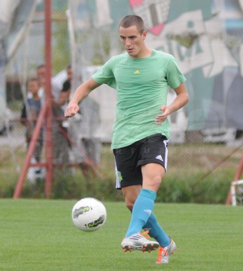 Vaitkunas la primul antrenament cu FC Vaslui. foto: Gabriel Tănasă