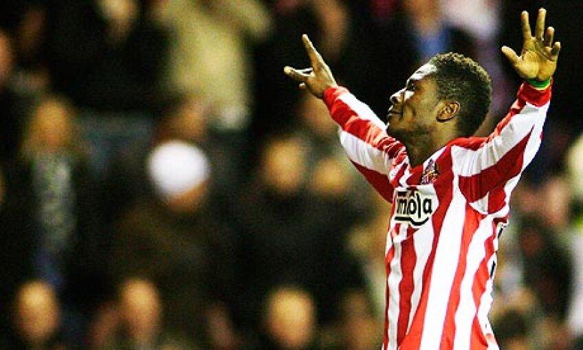 Asamoah Gyan a marcat 10 goluri în 34 de meciuri în Premier League