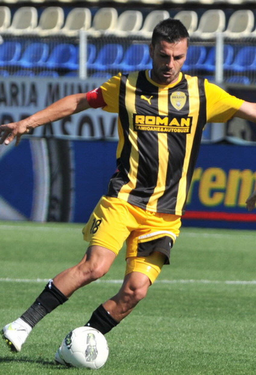 Marian Cristescu a marcat din penalty golul de 1-1 al Braşovului în meciul cu Rapid