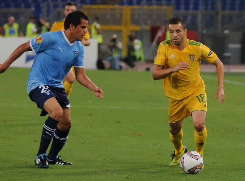 Lucian Sînmărtean a impresionat prin tehnica sa şi cu Lazio