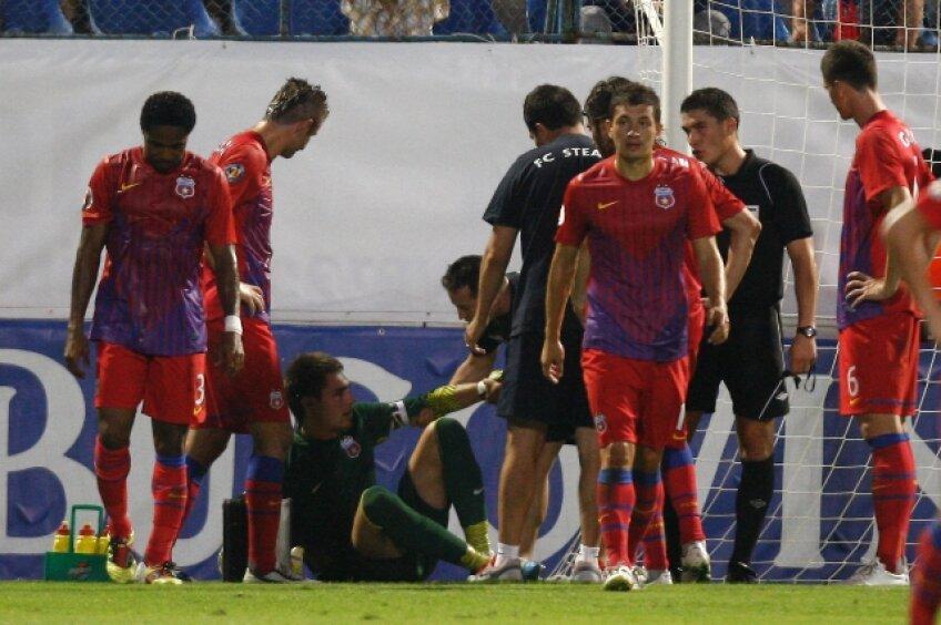 Tătăruşanu s-a accidentat în meciul cu Pandurii