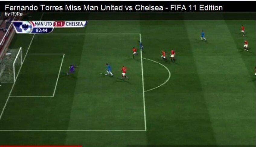 Faza cu Torres, reprodusă în FIFA 2011