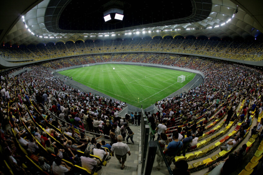 National Arena este stadionul pe care joacă Oţelul, Rapid şi Steaua în cupele europene