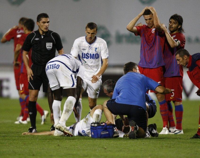 Cosmin Bacila,accidentare,fractura,Istvan Kovacs,Vlad Chiriches,Florin Gardos,mana la cap,Pablo Brandan,doctor,Ion Serban