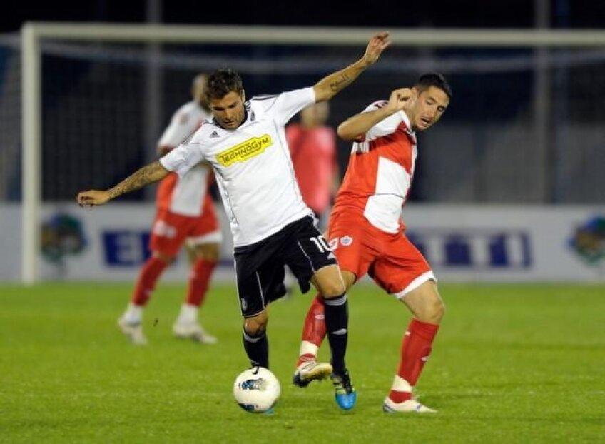 Mutu a reușit primul gol oficial pentru Cesena împotriva lui Lazio