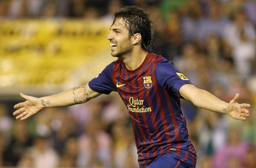 Golul lui Fabregas a adus egalarea pentru Barcelona împotriva Valenciei