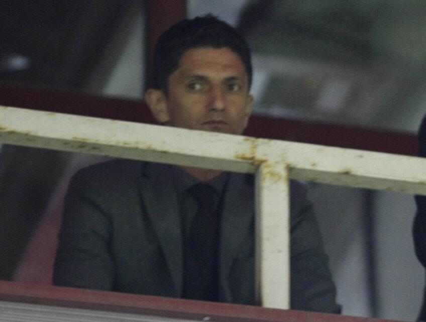 Răzvan Lucescu a urmărit jocul din tribună, fiind suspendat