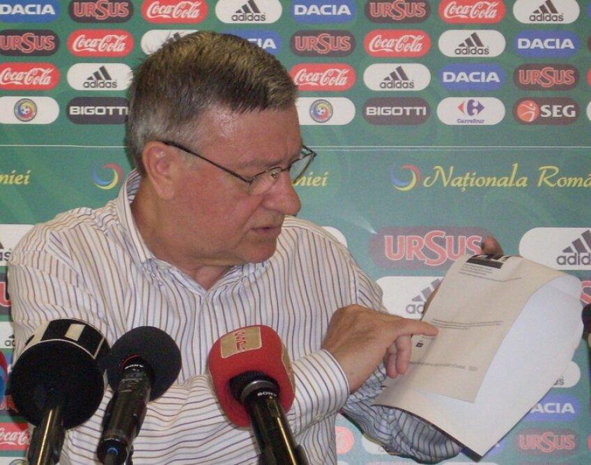 Mircea Sandu a făcut public contractul lui Vasile Avram