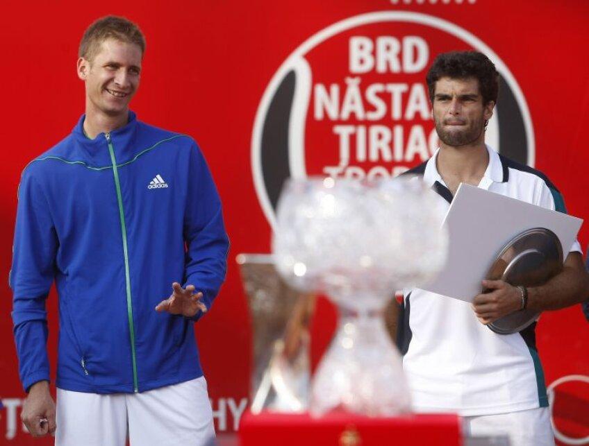 Florian Mayer (stînga) şi Pablo Andújar au disputat finala anul acesta. Va reveni vreunul să-şi apere punctele? Foto: Raed Krishan