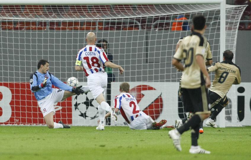 Momentul golului lui Bruno Cesar din minutul 41