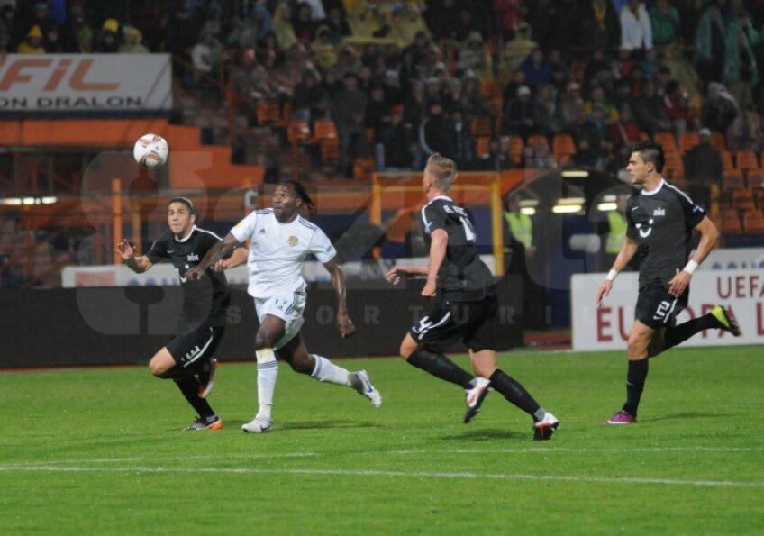 Temwanjera a adus pe FC Vaslui în avantaj, dar meciul s-a încheiat la egalitate, scor 2-2