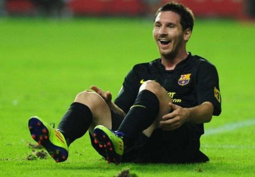 Lionel Messi a cerut penalty la o fază petrecută la scorul de 1-0 pentru Barcelona, dar arbitrul n-a fost de acord