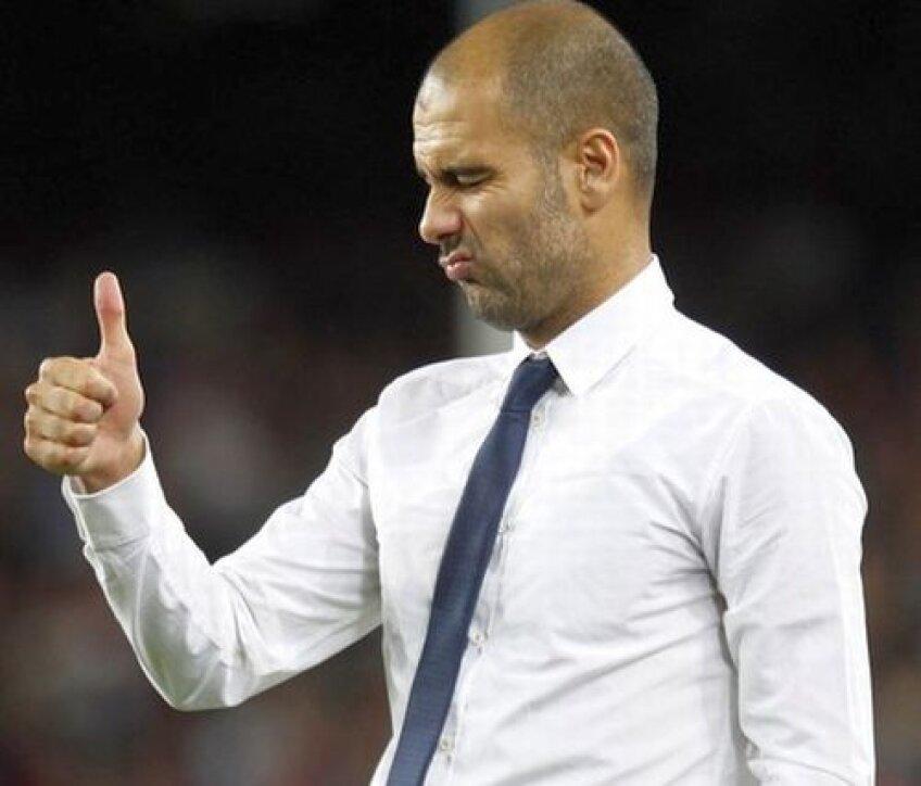 Echipa lui Guardiola a urcat pe prima poziţie în Primera