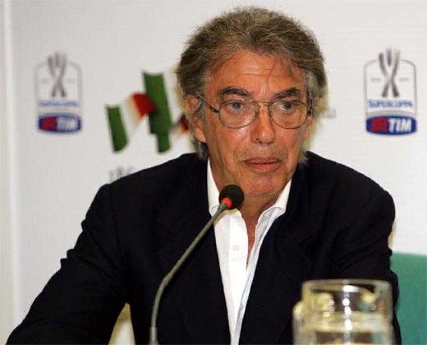 Massimo Moratti nu crede că arbitrii greşesc intenţionat împotriva Interului