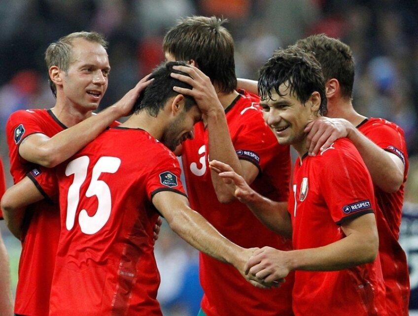 Serghei Kisliak, autorul golului victoriei in meciul cu Franta din preliminariile Euro-2012