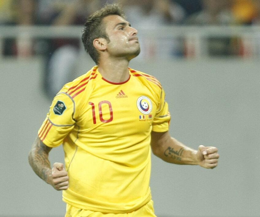 Adrian Mutu a marcat ambele goluri ale României contra Belarusului