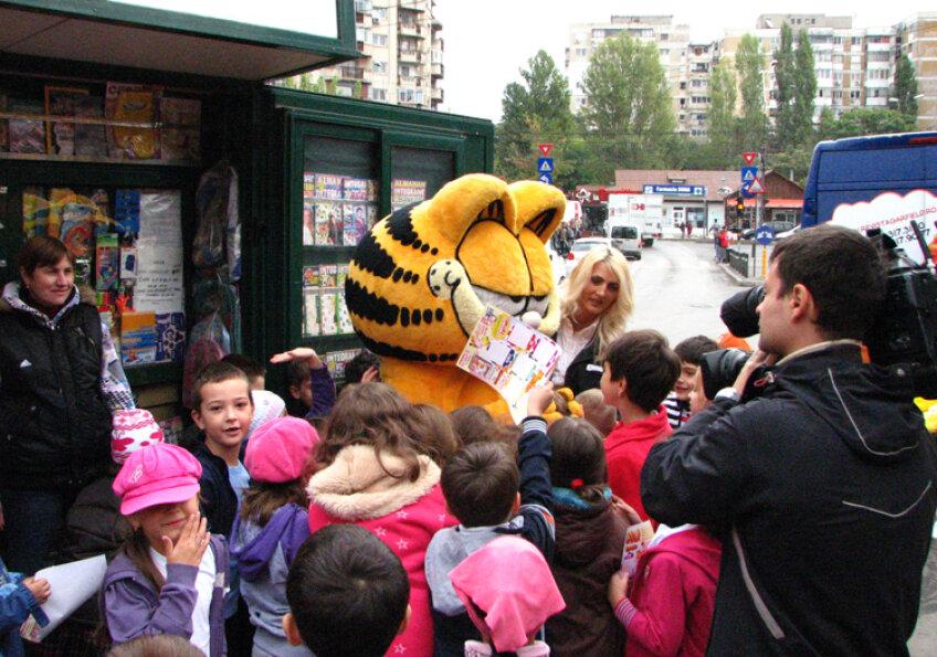 Garfield, printre copii