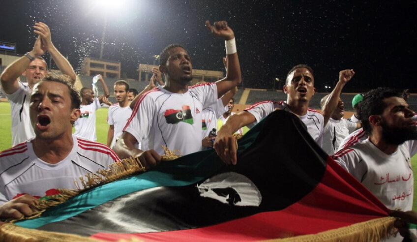 Jucătorii au sărbătorit calificarea la Cupa Africii (sursă foto: Reuters)