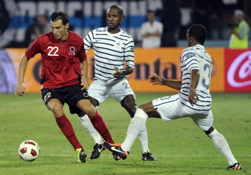 Erjon Bogdani în meciul cu Franța