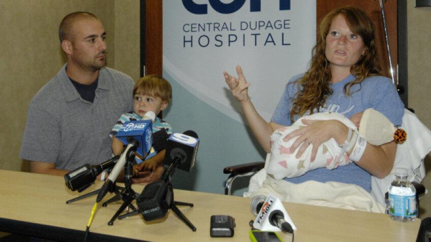 Amber Miller a născut o fetiţă de 3,5 kilograme Sursa: daily herald