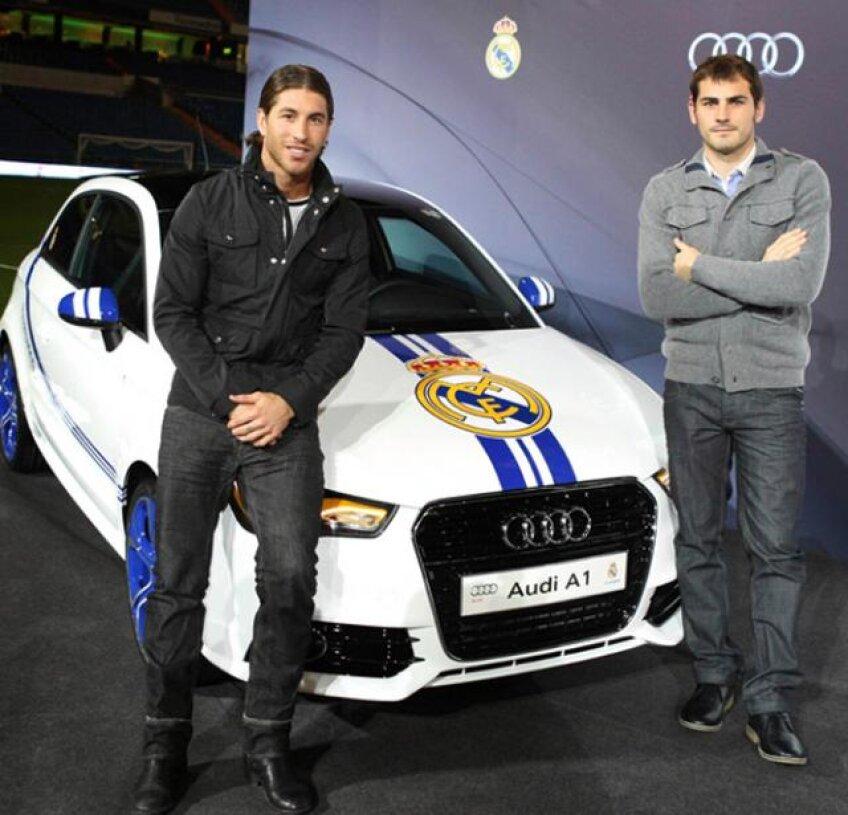 Sergio Ramos, Iker Casillas Sergio Ramos şi Casillas lîngă de un Audi vopsit în culorile Realului