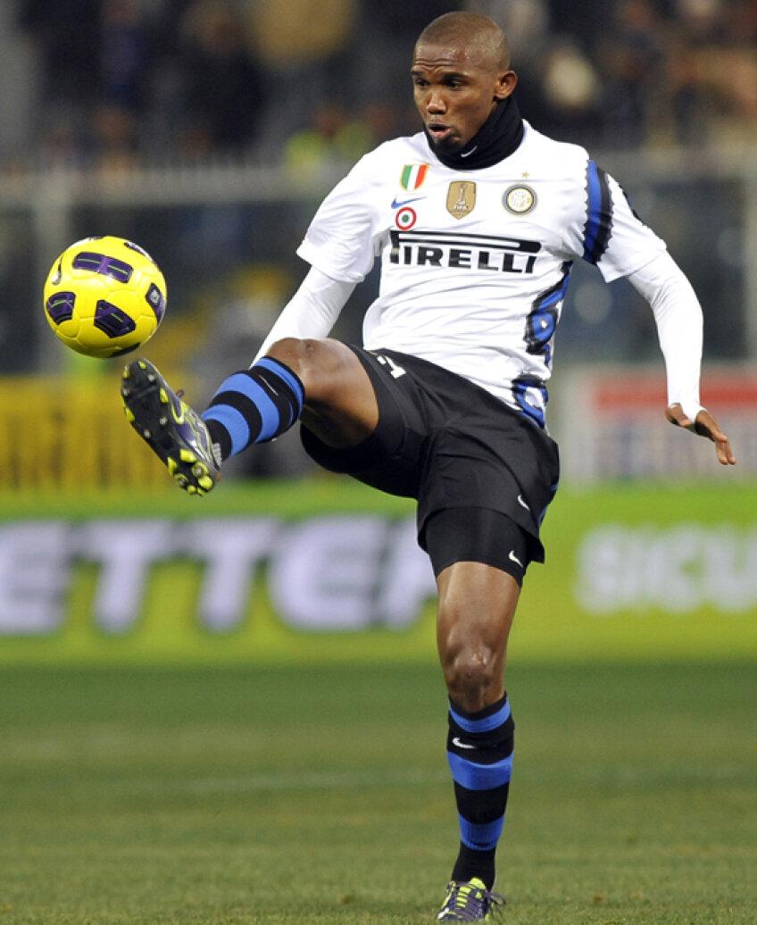Samuel Eto'o este cel mai bine plătit fotbalist din lume, are 20,5 milioane de euro pe sezon. A dat trei goluri în cinci meciuri, iar Anji e pe locul 8 după 26 de etape. Sursa foto: reuters