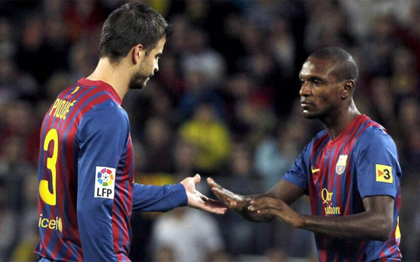 După doar 8 minute Pique a cerut schimbarea, acuzînd o accidentare. Abidal i-a luat locul în defensiva Barcelonei