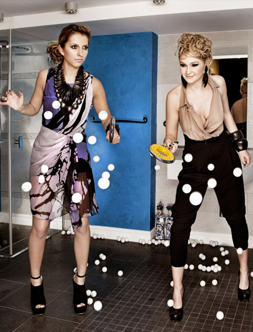 Daniela Dodean și Eliza Samara au pozat pentru calendarul federației în ipostaze sexy. FOTO FRTM