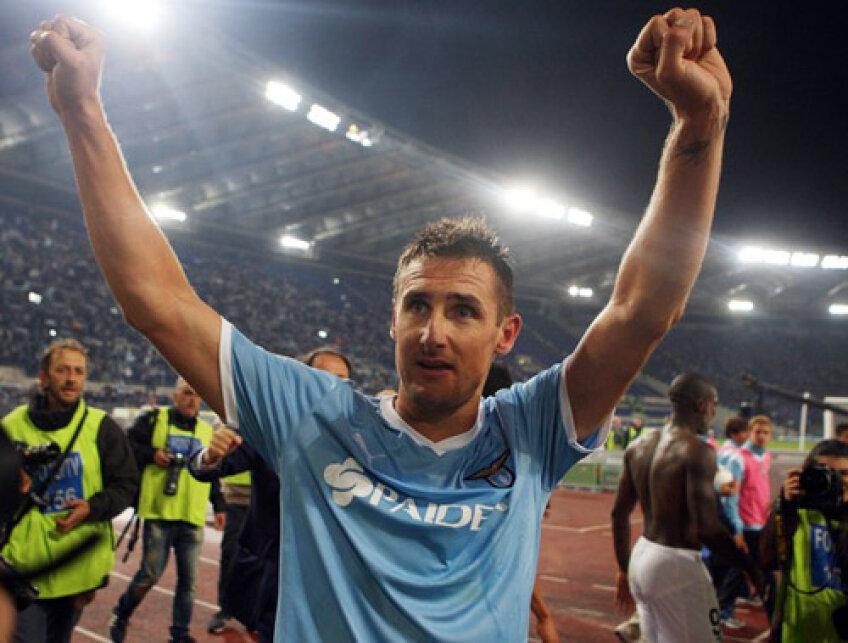 Klose a fost decisiv în derby-ul cu Roma (Sursa foto: daylife.com)