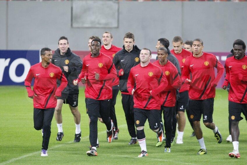 Manchester a efectuat primul antrenament pe noul stadion din Bucuresti National Arena