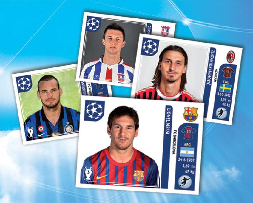Messi, Ibrahimovici nu vor lipsi din stickerele oferite gratuit cu Gazeta mîine şi pe 2 noiembrie
