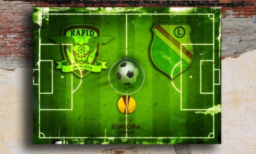 Dacă PSV este favorită certă la calificare, bătălia pentru locul doi se va da între Rapid şi Legia