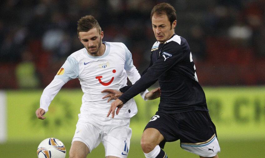 Ştefan Radu, în duel cu marcatorul golului elveţienilor