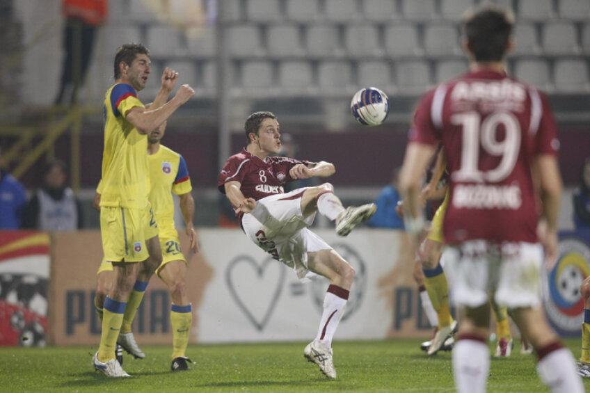 Pentru Nicolae Grigore meciurile cu Steaua reprezintă o obişnuinţă. FOTO Raed Krishan