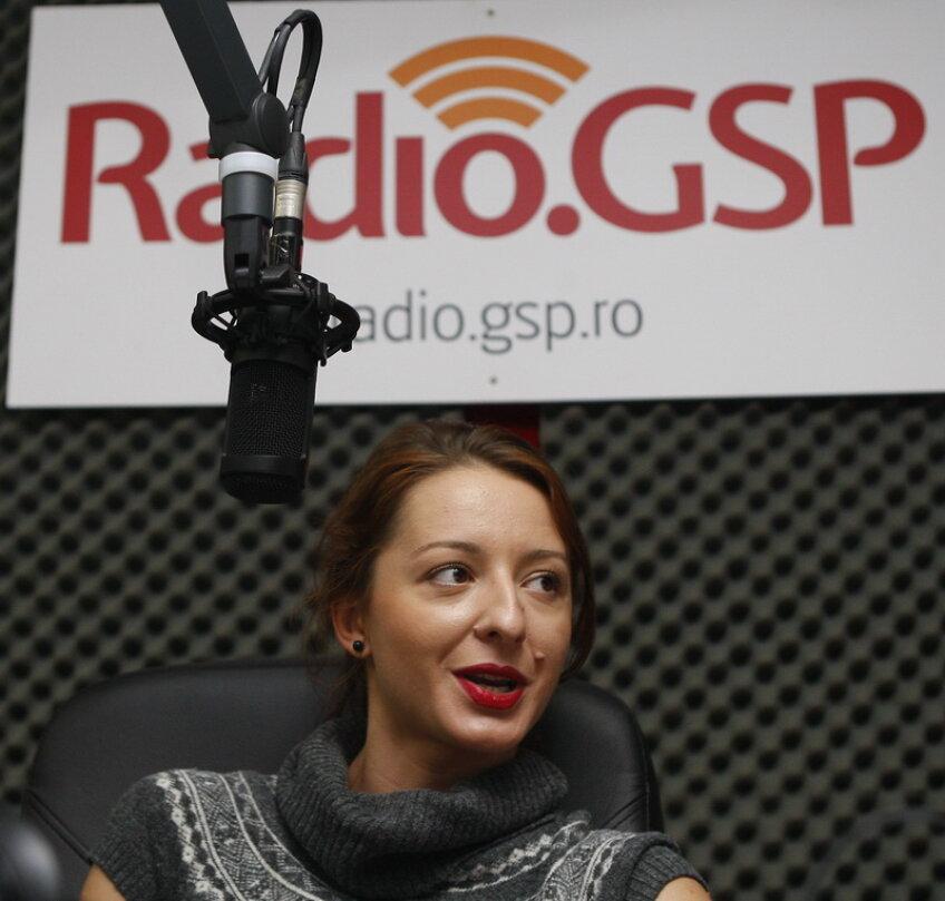 Ana Maria Brînză în studioul Radio GSP