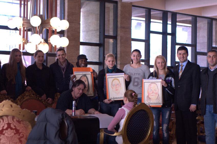 Chrissz Givens, Olena Samburska şi Bettz Kalanga, mândre de portretele făcute de Popa Popa's