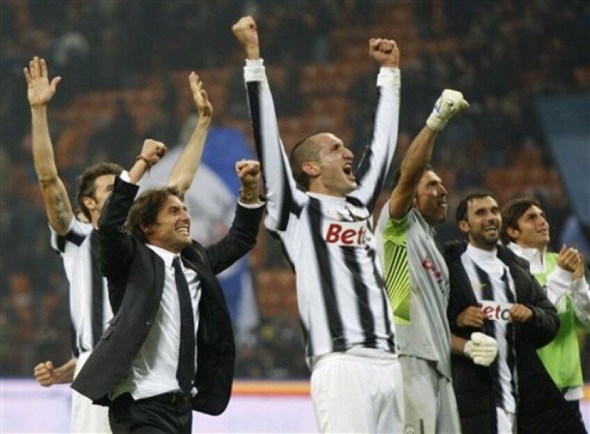 Bucuria jucătorilor de la Juventus