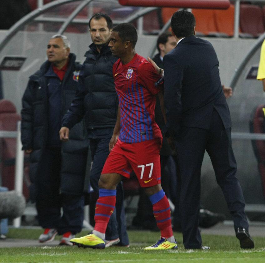 Steaua bănuiește că Leandro are ruptură musculară, caz în care brazilianul ar păstra șanse mici să mai joace în 2011