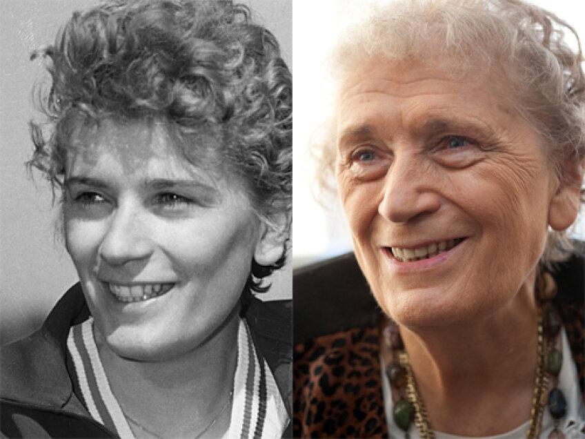 Iolanda, în 1960 (stînga) şi în 2011 (dreapta)